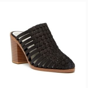 1. State- Licha black leather mules